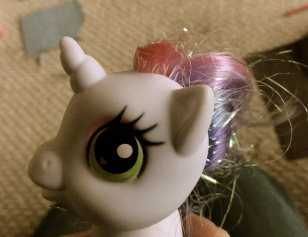 My Little Pony took a shot to the mane.
